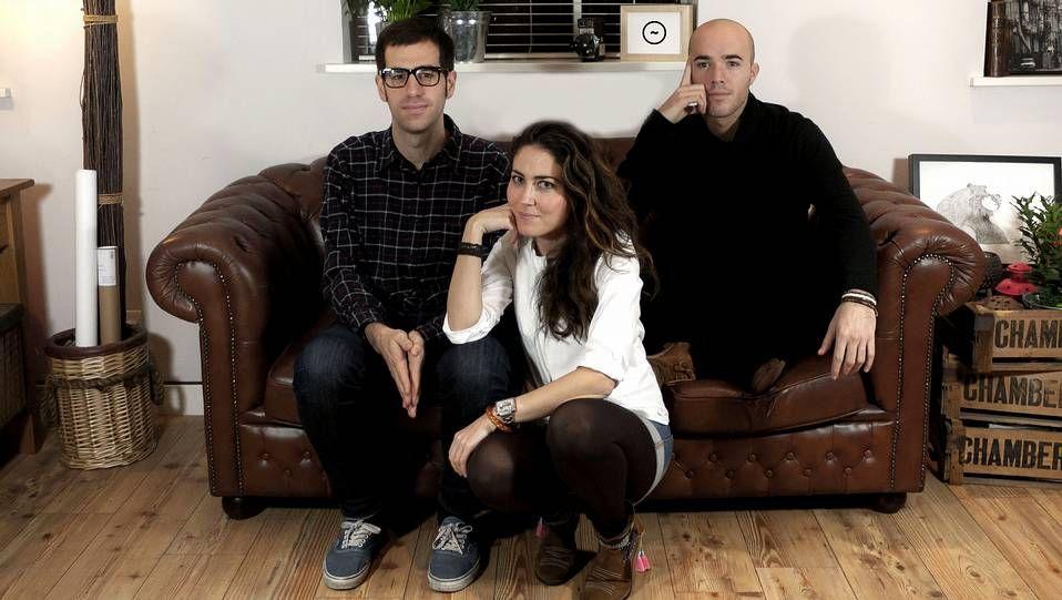Manu Sainz, Belén Balado y Pablo Amade, impulsores del Círculo Creativo London