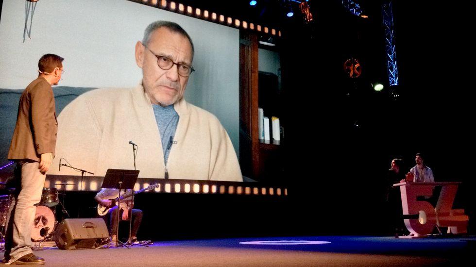Andrei Konchalovsky, en un momento de su vídeo de agradecimiento por el Premio Jurado Joven
