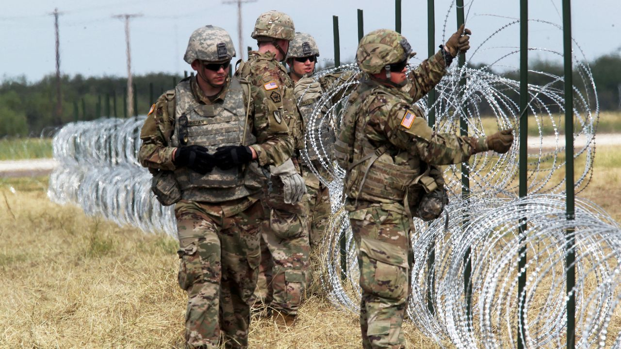 4.600 militares reforzaron este fin de semana la frontera entre Texas y México