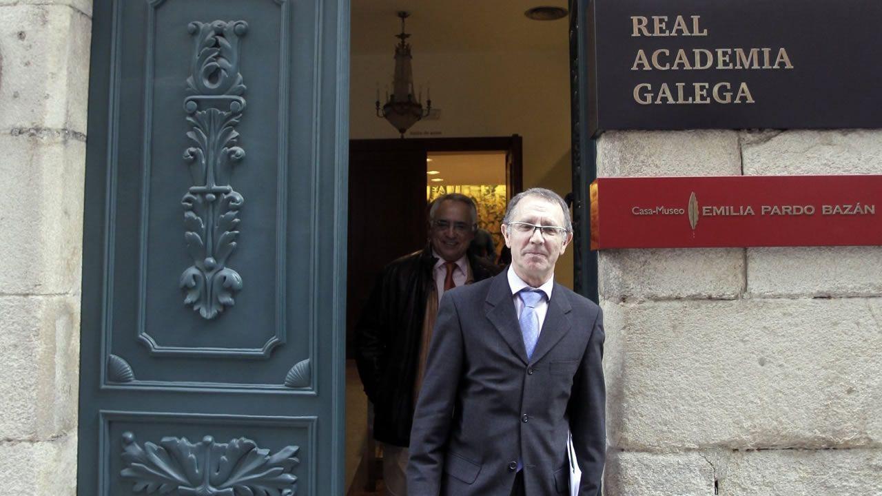O académico Manuel González, diante da RAG