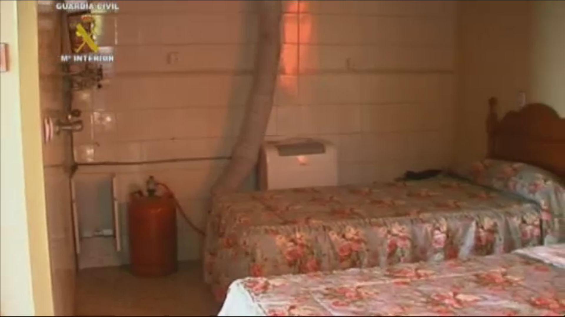 Así era la casa de los horrores de Cádiz.Entrada de la casa de los horrores de Chiclana