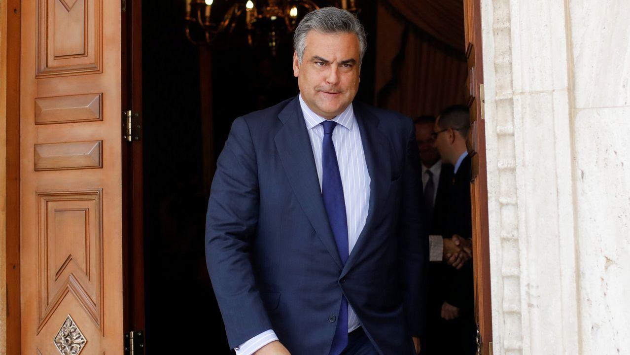 Ángel Antonio del Valle, presidente de Duro Felguera.El embajador de España en Venezuela, Jesús Silva
