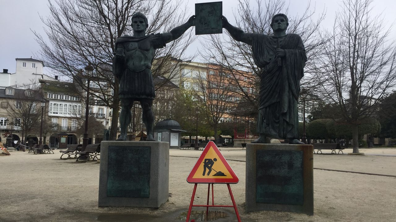 Tramo señalizado de la Vía XIX cerca de O Portelo, en el municipio lucense de Cervantes