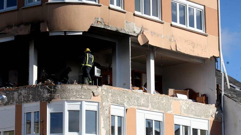 Las imágenes del temporal «Dirk» en la comarca de Ferrol