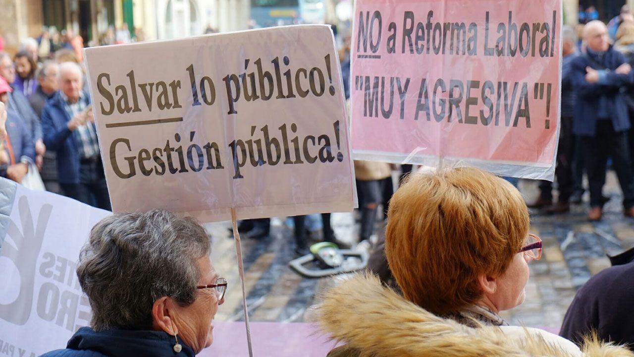 En una concentración de pensionistas en Gijón