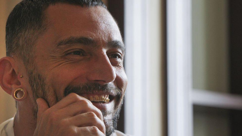 David Delfín en una entrevista en A Coruña en el 2013.