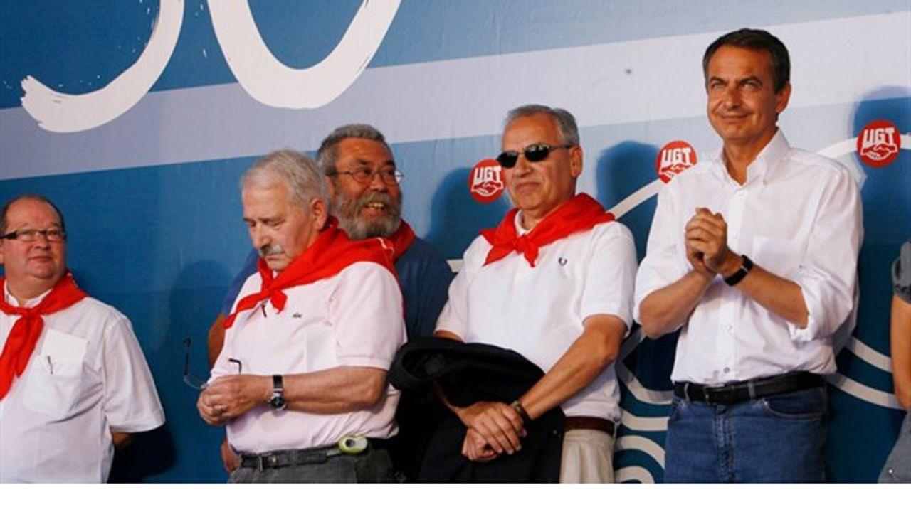 Alfonso Guerra, Jose Luis Rodriguez Zapatero, Jose Ángel Fernández Villa Y Candido Méndez