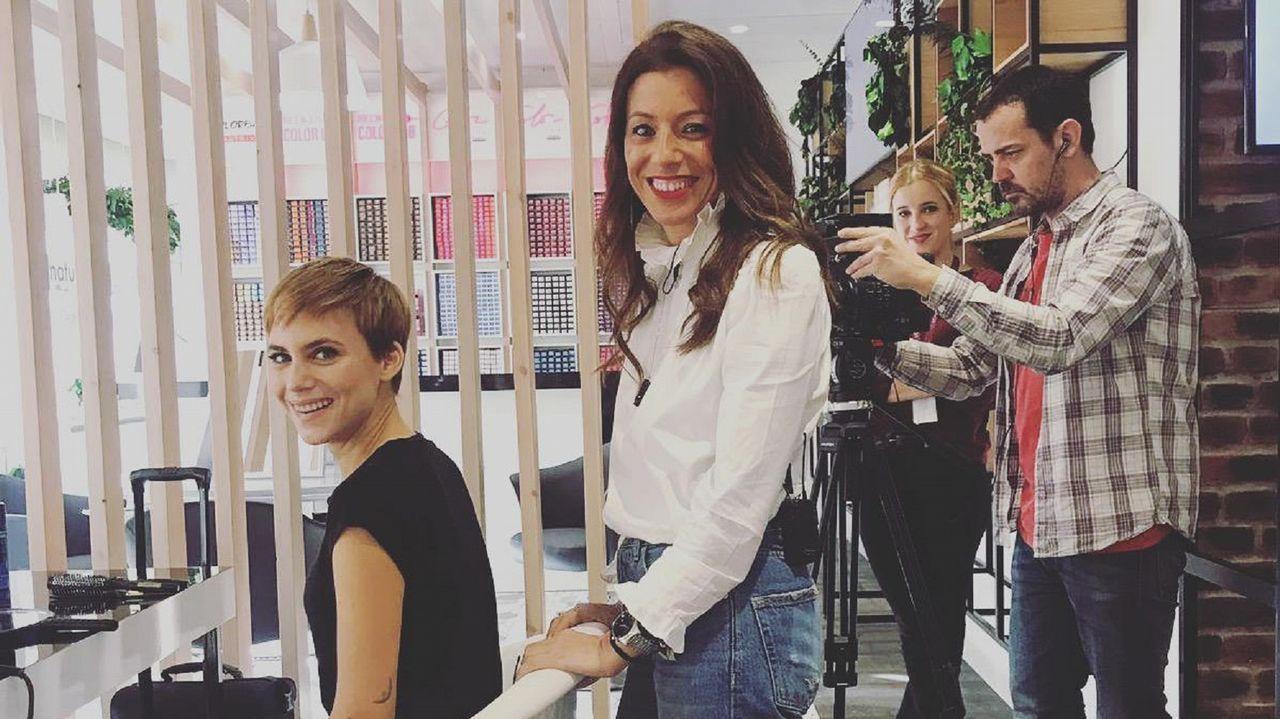 La peluquera peinó en días pasados a la actriz Auri Garrido para un especial de Hola.com con motivo de los premios Forqué y Feroz