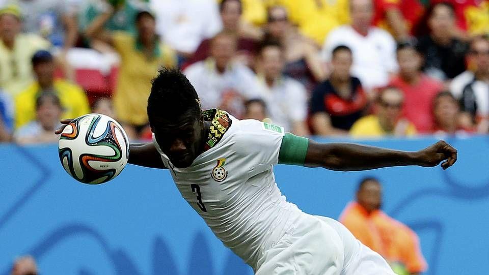 Asamoah Gyan, durante el pasado Mundial
