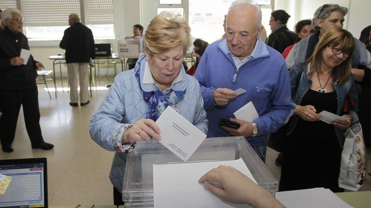 Votaciones en las elecciones municipales del 2015 en A Coruña
