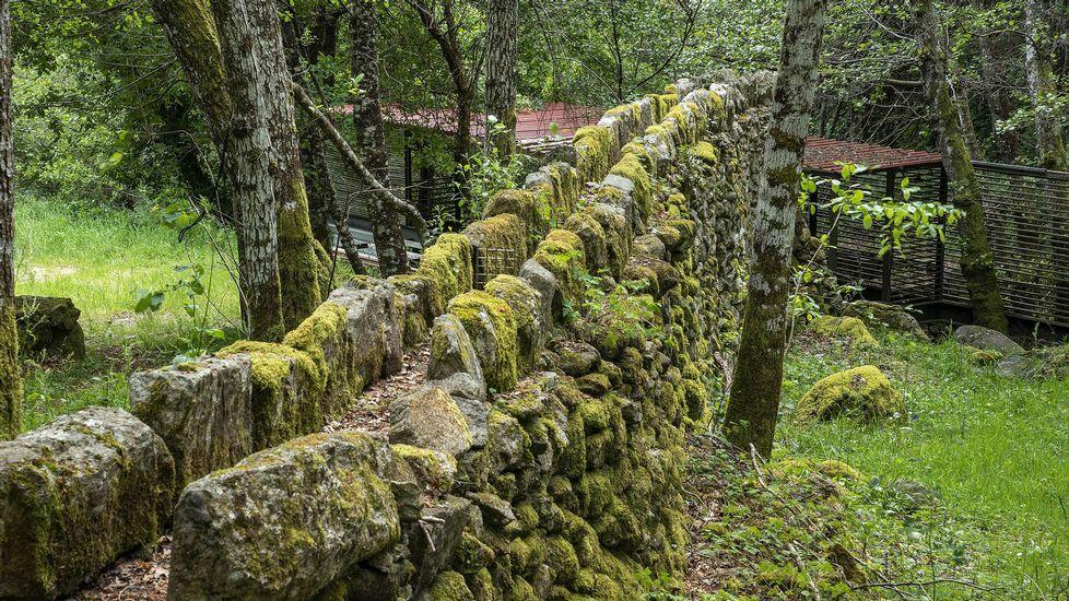 Un antiguo canal elevado para conducir el agua hasta los molinos