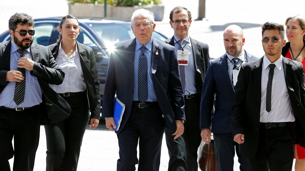 Josep Borrell a su llegada a la reunión en Montevideo del Grupo Internacional de Contacto sobre Venezuela