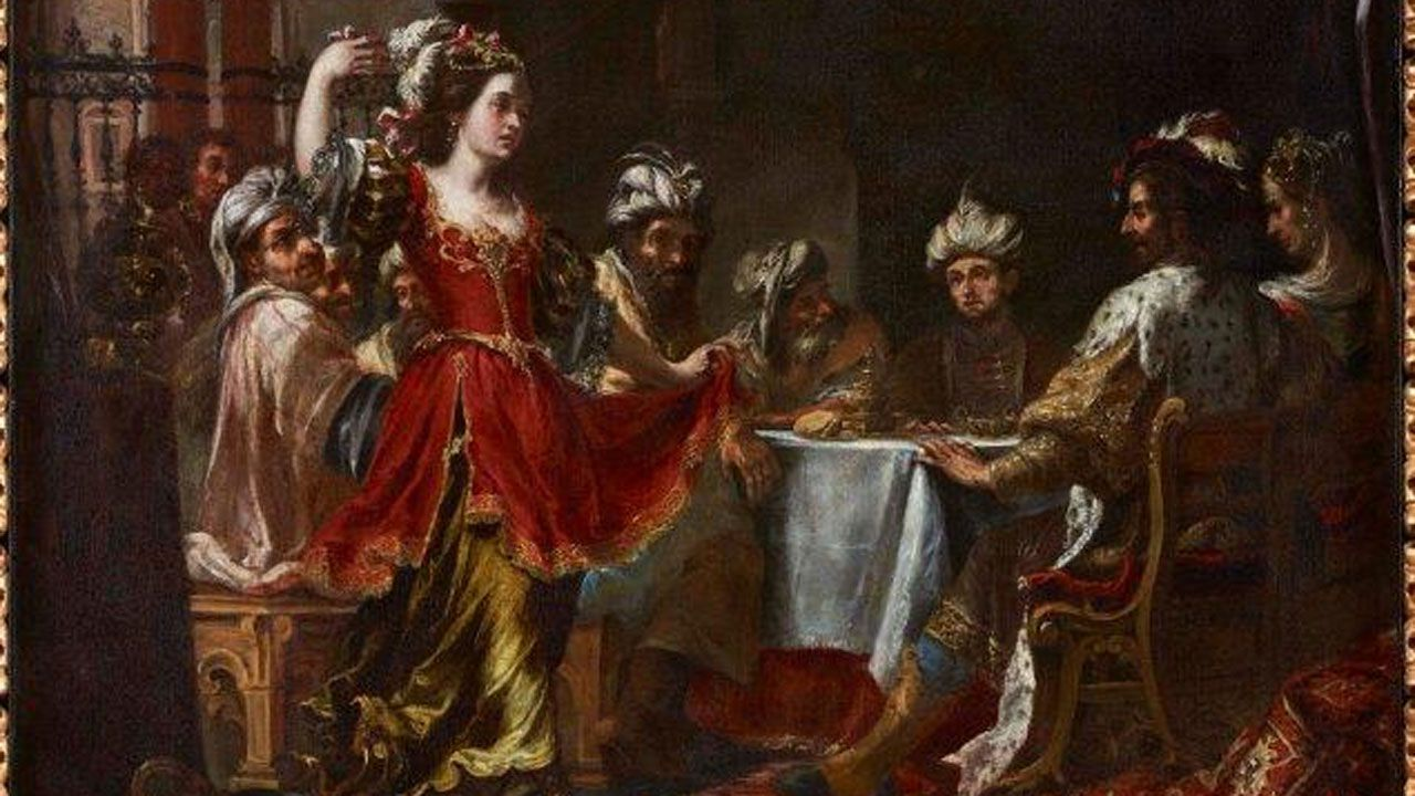 Fragmento de «La danza de Salomé ante Herodes» de Valdés Leal