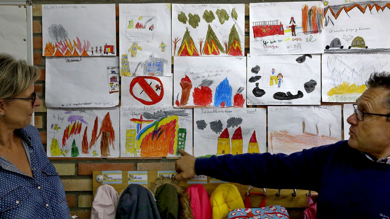 «La niebla era humo»: los niños gestionan su miedo en el colegio.