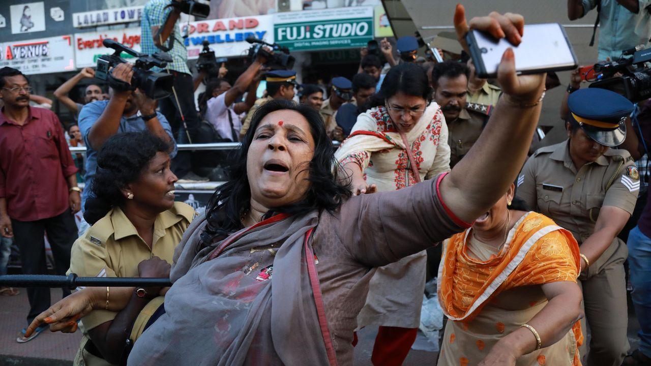La entrada de las mujeres en el templo de Sabarimala sigue desencadenando protestas