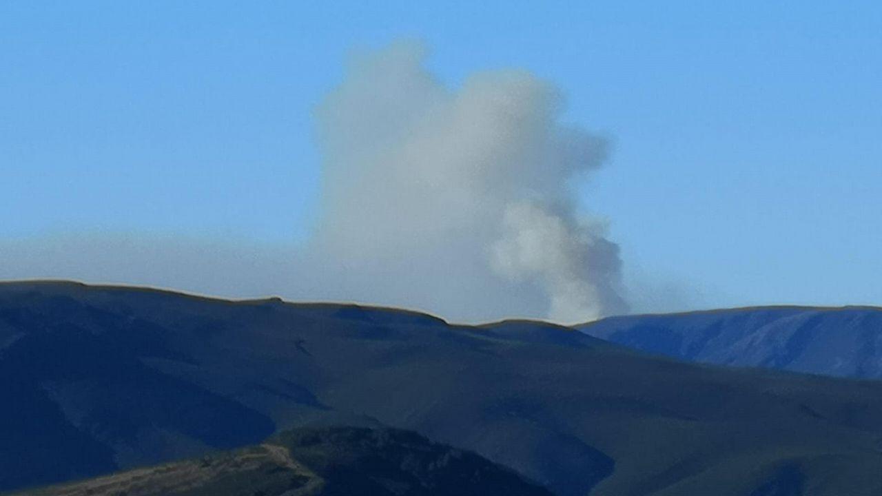 Incendio en pleno centro de Burela