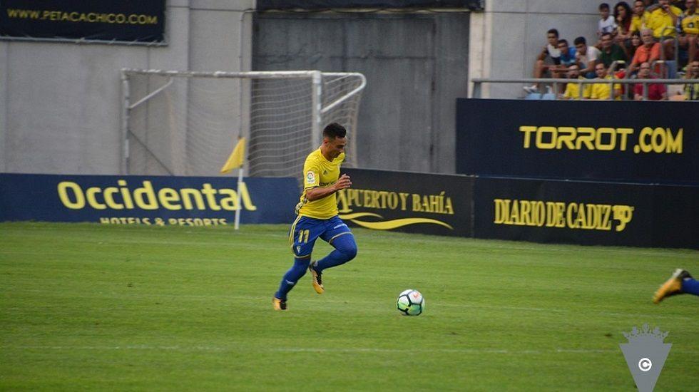 Álvaro García en el Cádiz-Alcorcón