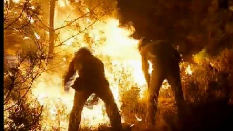 Continúan los incendios en Ourense.Manuel Pérez (Padrenda).