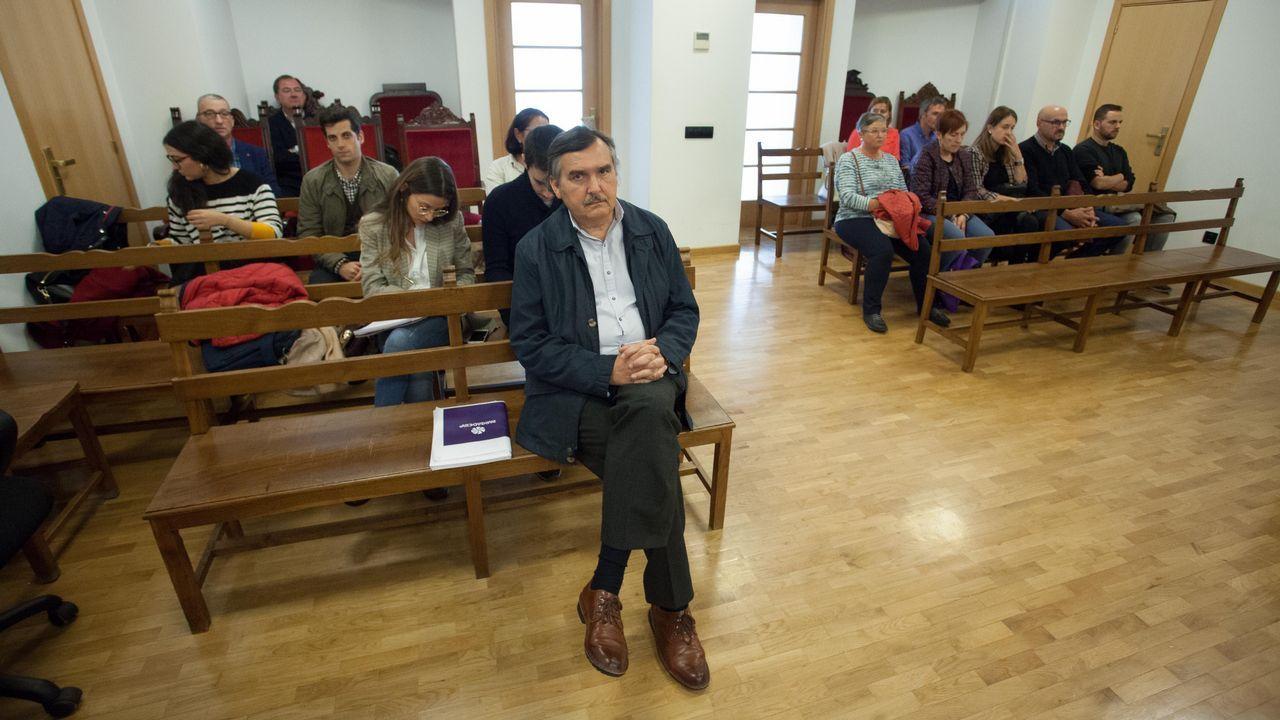 Manifestación de UGT en Sargadelos.Álvarez ha estado esta semana en Lugo para apoyar a la exdelegada de UGT en Sargadelos