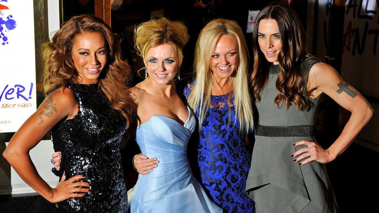 Las cuatro componentes de las Spice Girls, sin Victoria Beckham