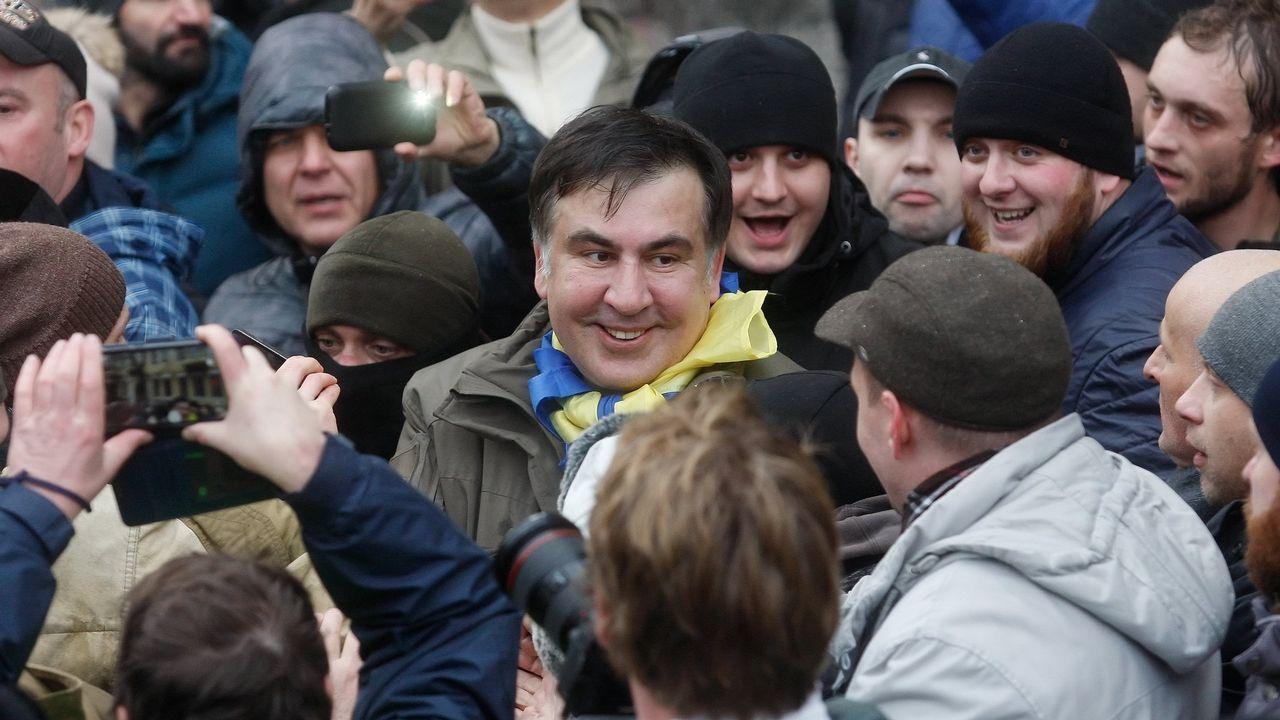 Operativo en Kiev para detener al expresidente georgiano, Mijail Saakashvili.