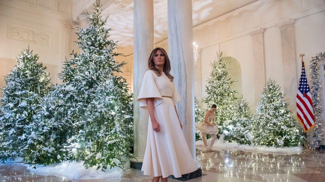 La excesiva decoración navideña de los Trump en la Casa Blanca.