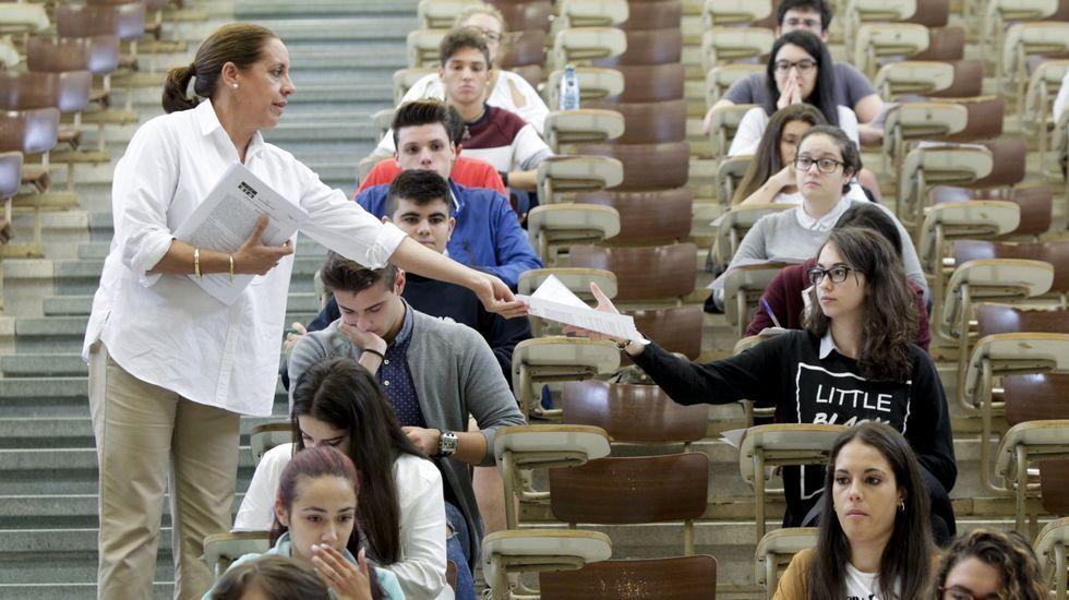 Examen de selectividad en septiembre del 2016 en Santiago