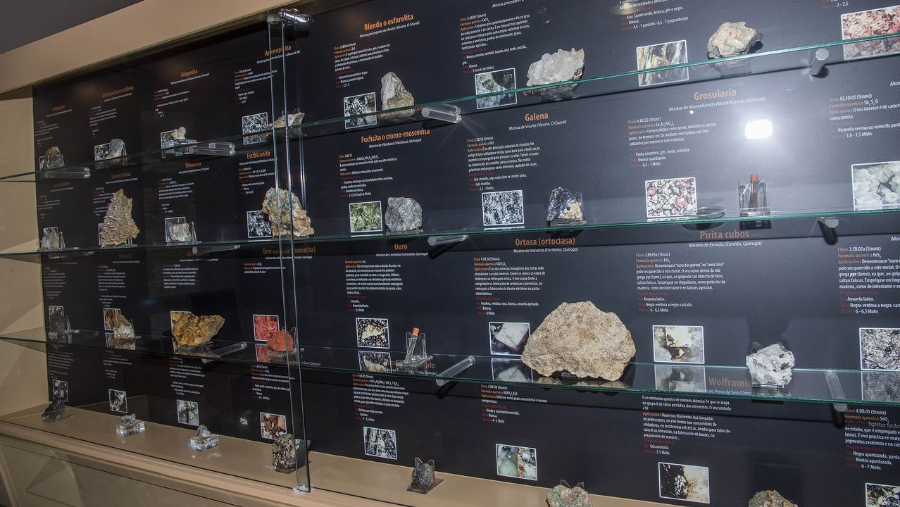 El museo exhibe una amplia colección de minerales nativos de la comarca