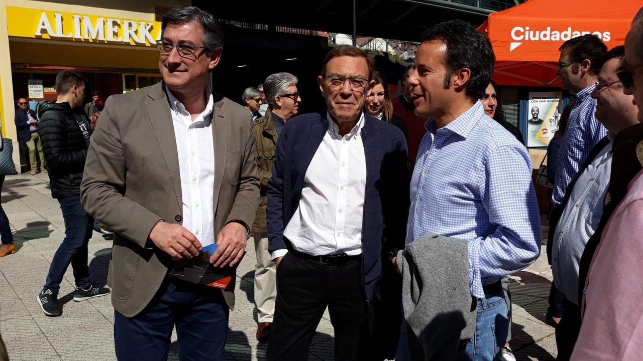 Ignacio Prendes, Juan Vázquez e Ignacio Cuesta