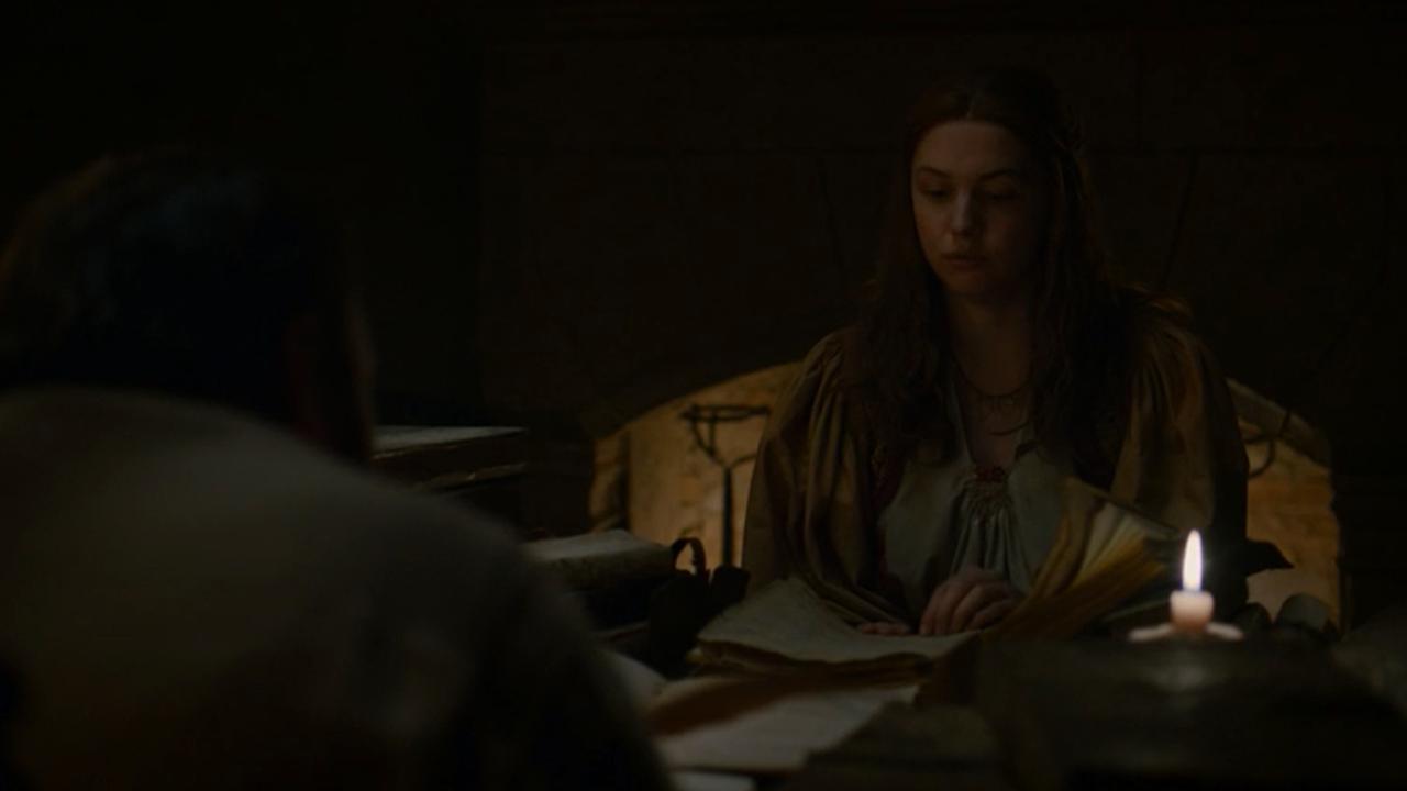 Elí lee frente a Sam en el episodio 7x05 de Juego de Tronos