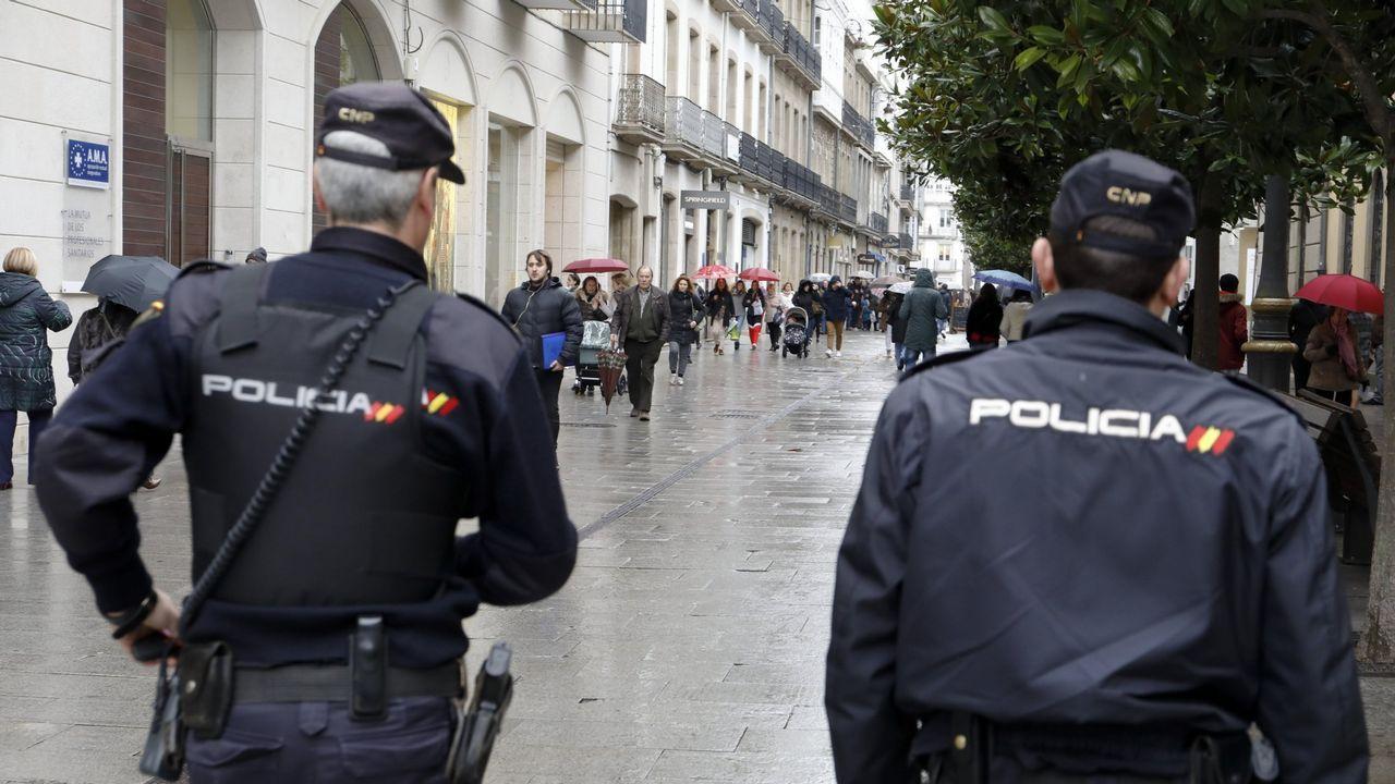 Redada antidroga en O Vao.Policía Nacional