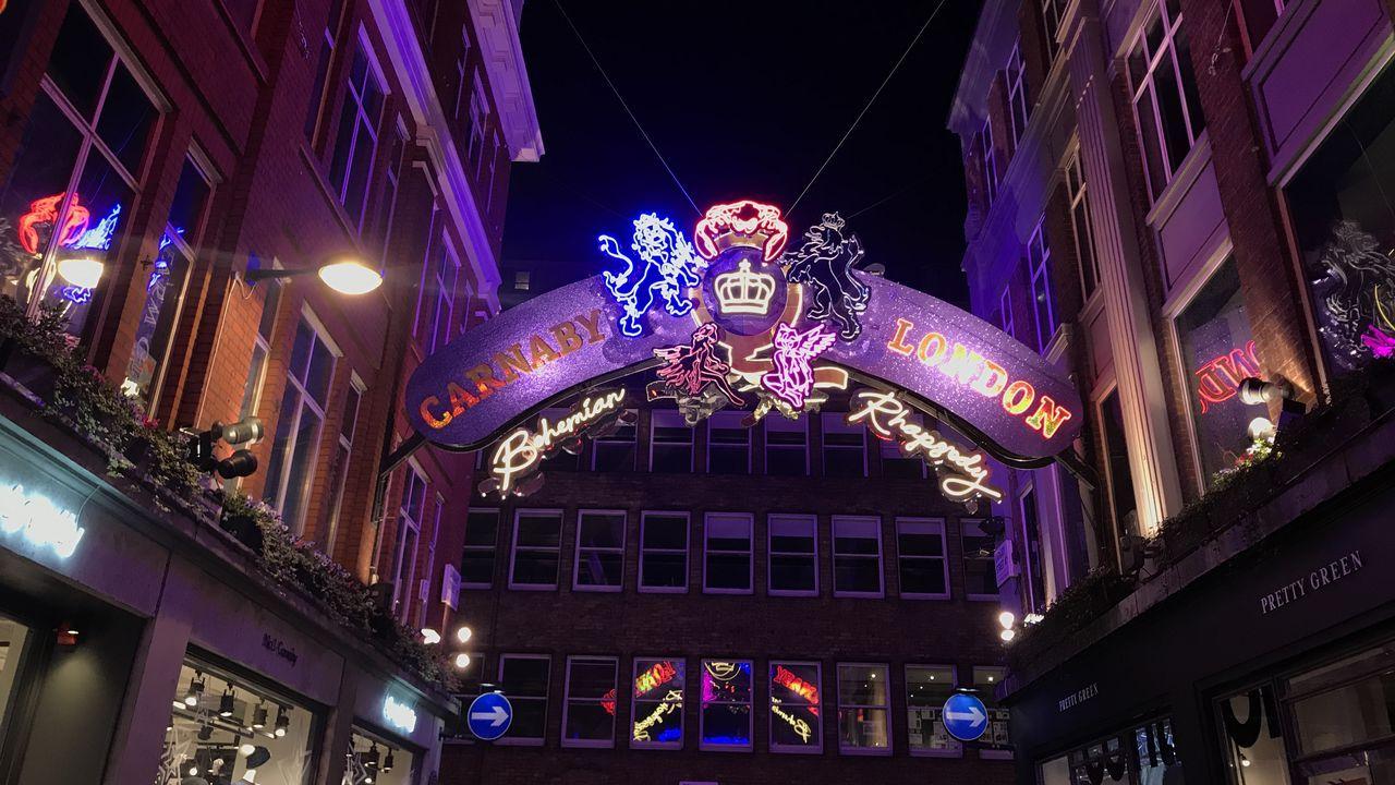 Carnaby Street ha ganado protagonismo estas Navidades en Londres