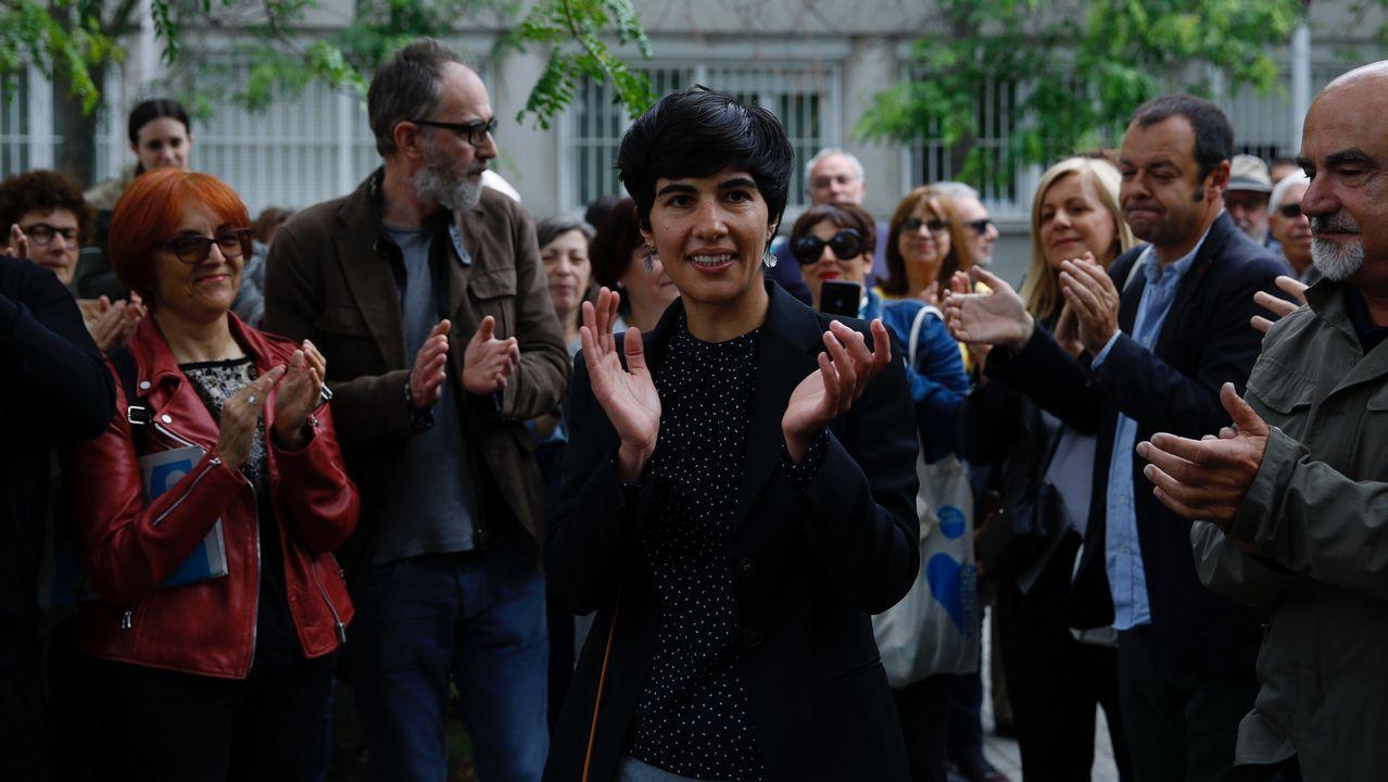 Así fue la entrada a declarar de Claudia Delso.Inauguración congreso técnicos de laboratorio