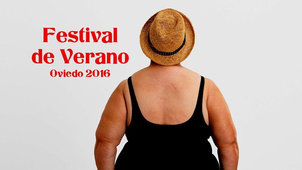 .Un detalle del cartel anunciador del Festival de Verano 2016 de Oviedo, del diseñador Ricardo Villoria