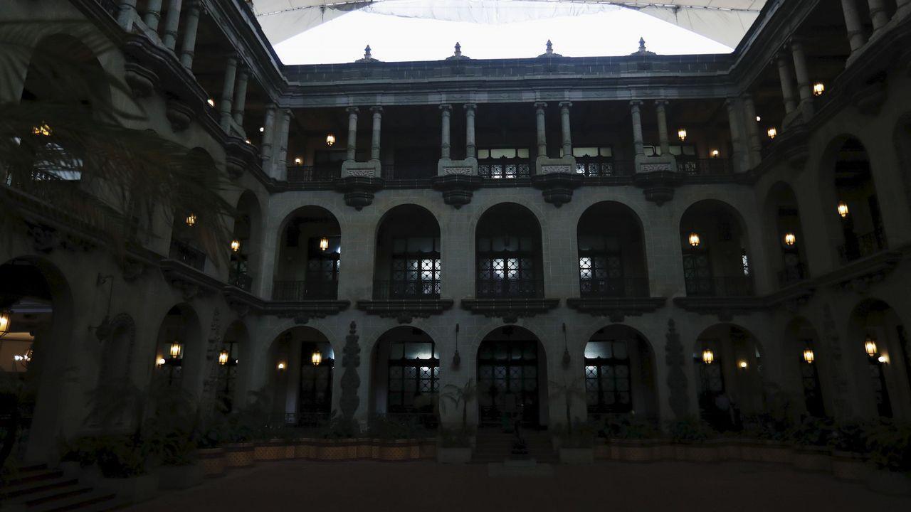 .Vista del Palacio Nacional de la Cultura, en Guatemala