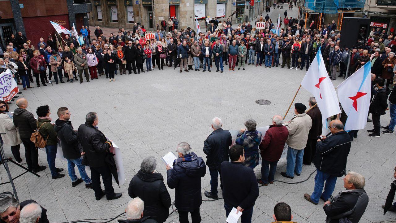 Movilizaciones en Pontevedra en defensa de las pensiones.