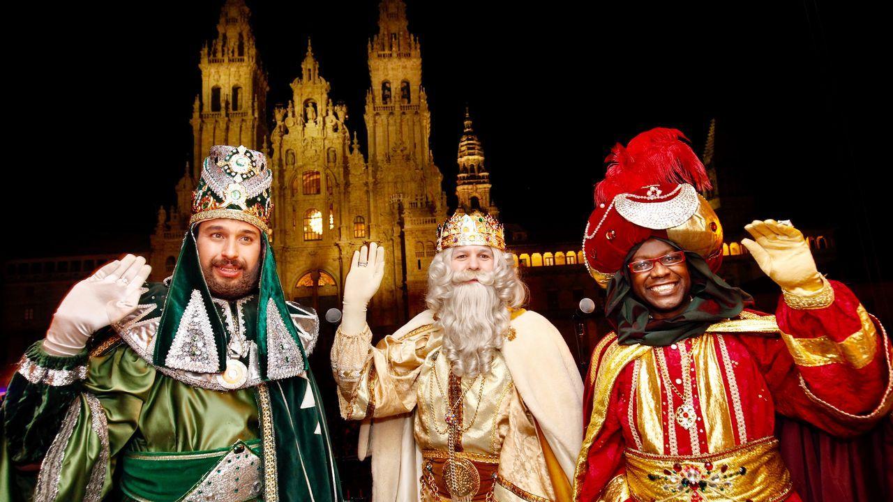 Los Reyes Magos, en Santiago de Compostela