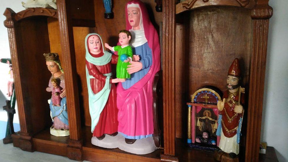 Seis valiosos ángeles estuvieron en la catedral ocultos detrás de un retablo.Tallas pintadas en la ermita de Rañadorio (Tineo)