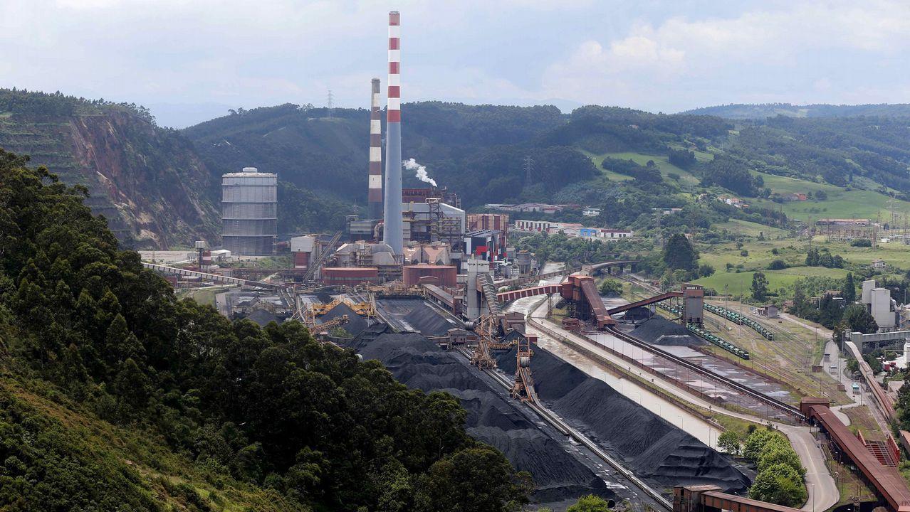 .Vista de la central térmica de Aboño. El PP ha trasladado hoy al resto de grupos de la Junta General una propuesta de declaración institucional, que requiere de la unanimidad para salir adelante, en defensa del mantenimiento del carbón dentro del mix energético nacional y en contra del cierre anticipado de las centrales térmicas