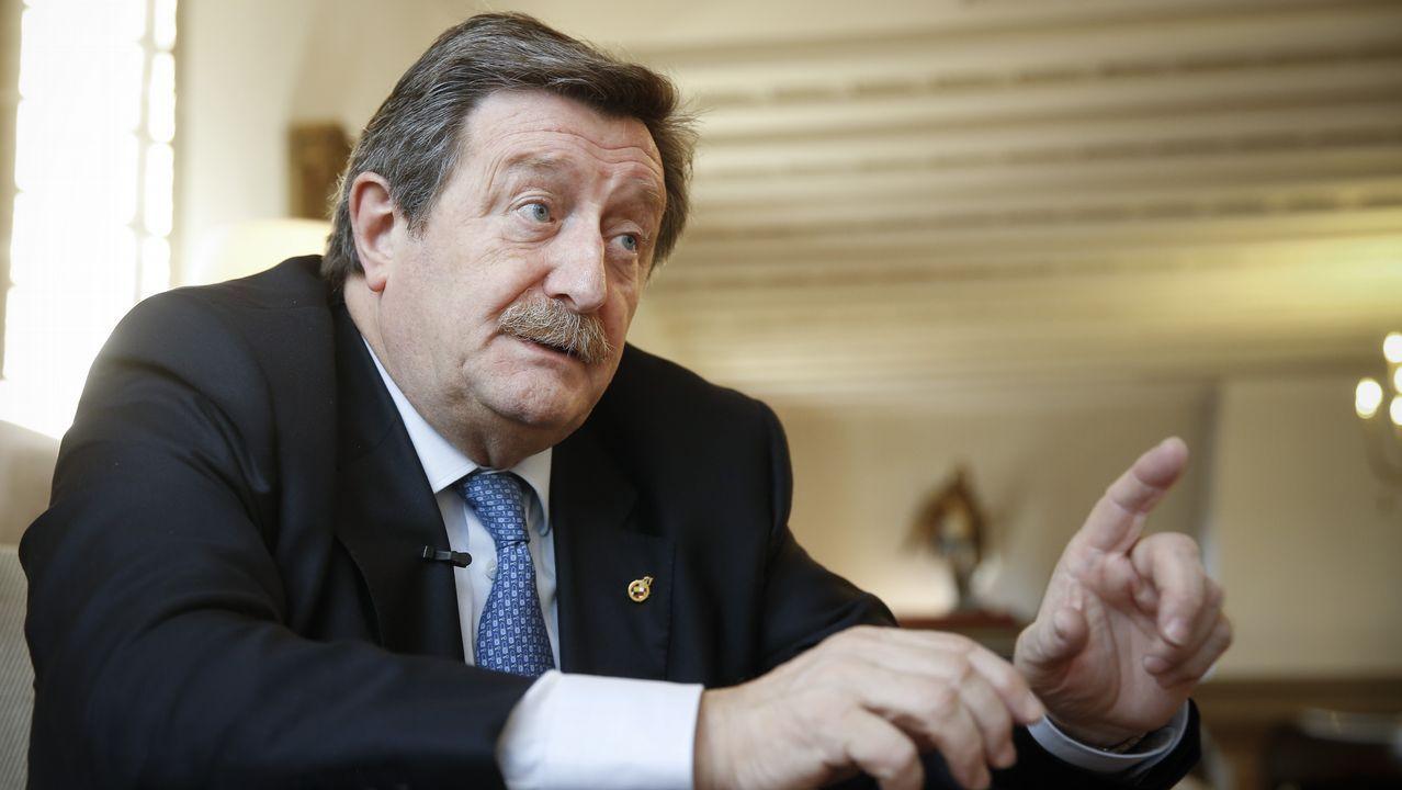 José Luis Larrea, presidente de la RFEF, habla para La Voz.