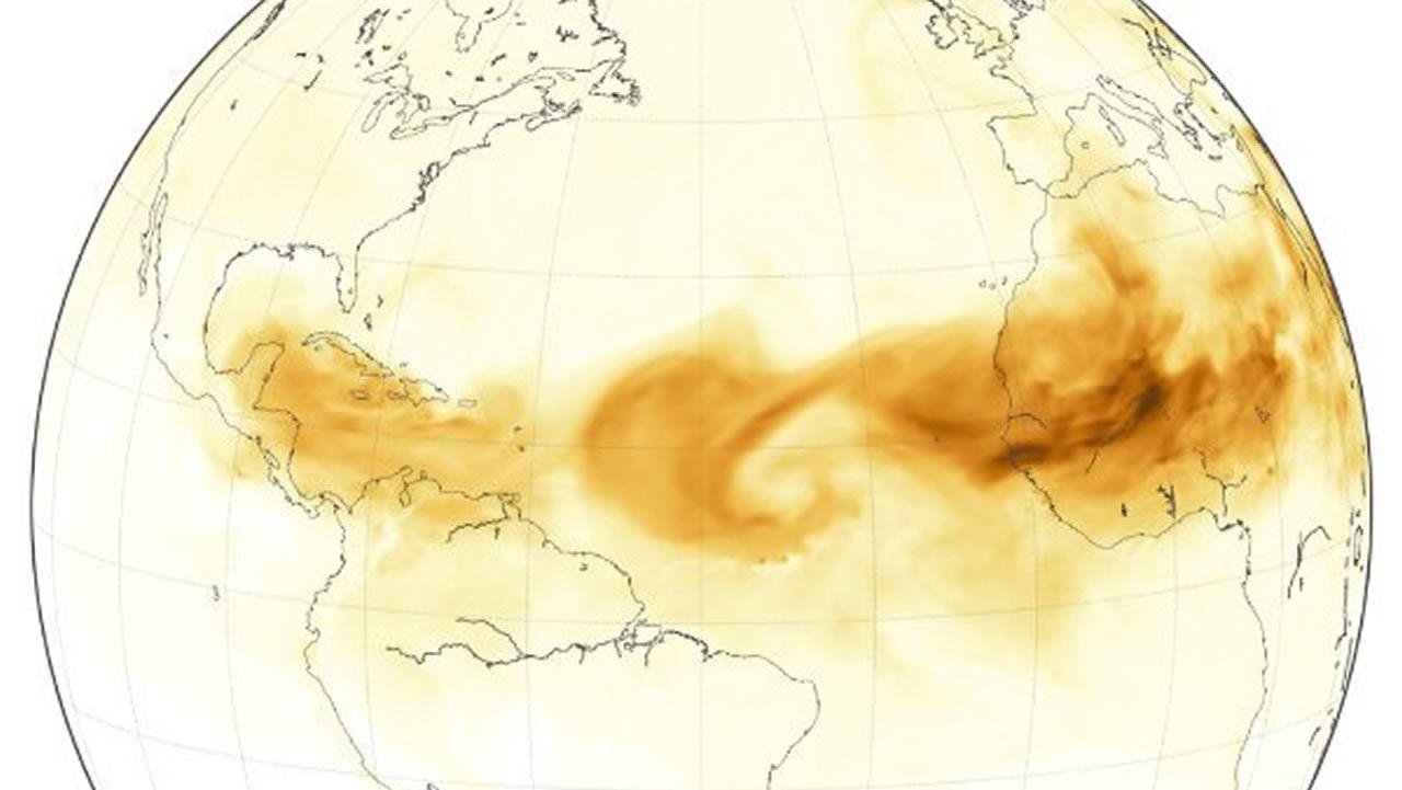 Las intrusiones de polvo del desierto al Atlántico están siendo frecuentes. El polvo evita el calentamiento del océano