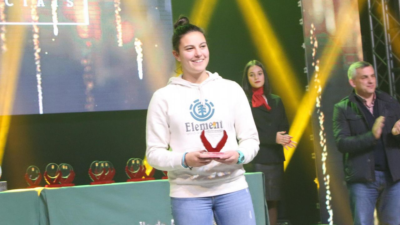 Maria Mendez Carol Gonzalez Real Oviedo Femenino Deportivo Feminas Requexon.Vero Boquete, en una imagen reciente en Galicia