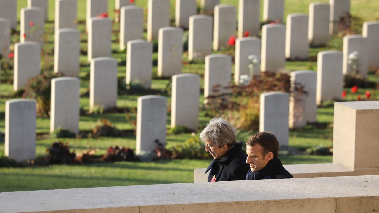 Macron ha dedicado toda la semana a recorrer los escenarios de la Primera Guerra Mundial en el norte del país