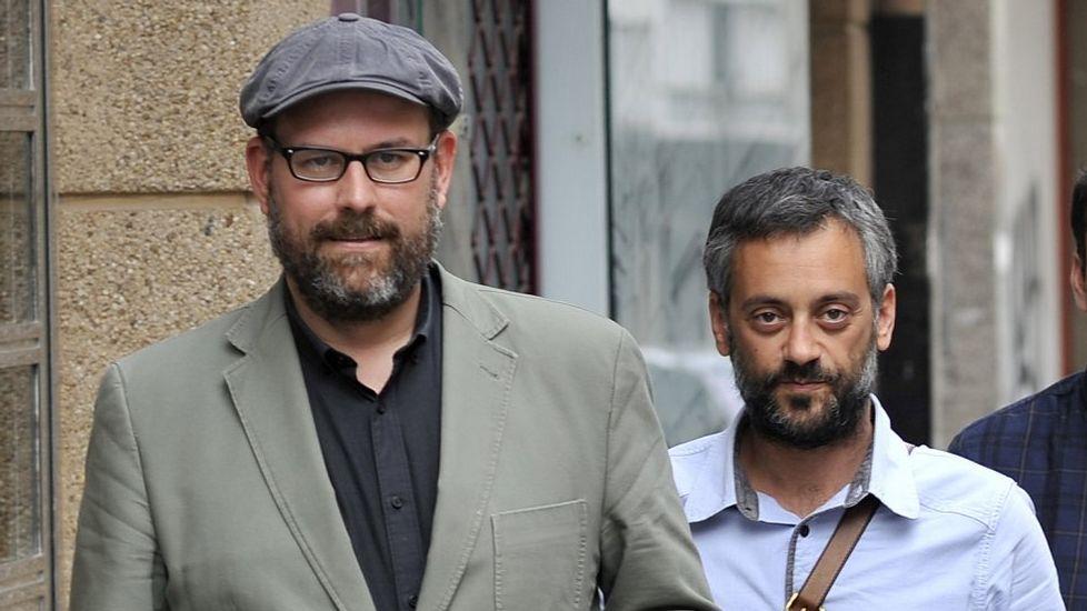 El día que la ilusión venció al miedo.Beiras y Luís Villares, durante una reunión del Consello das Mareas el pasado abril