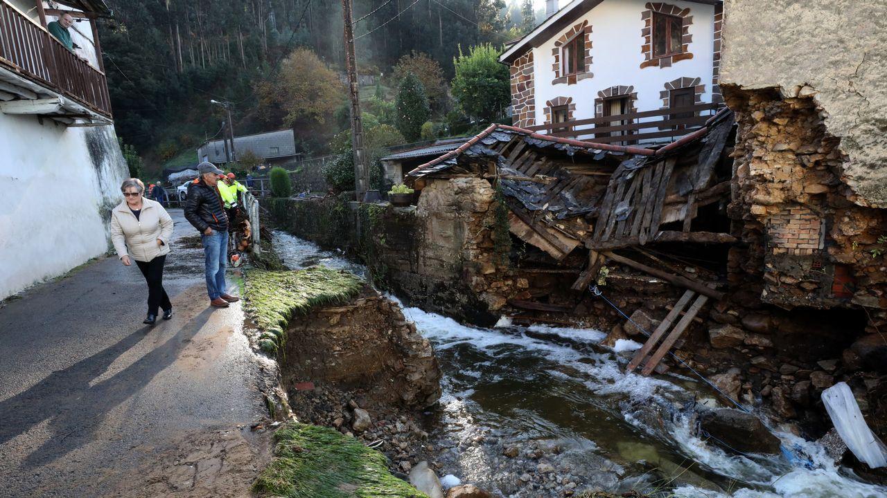 Inundaciones en Xunqueira donde murió la señoa ahogada