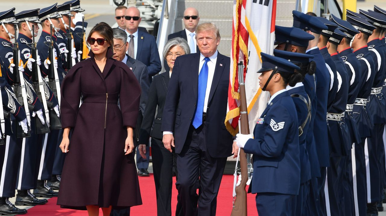 .Melania y Donald Trump
