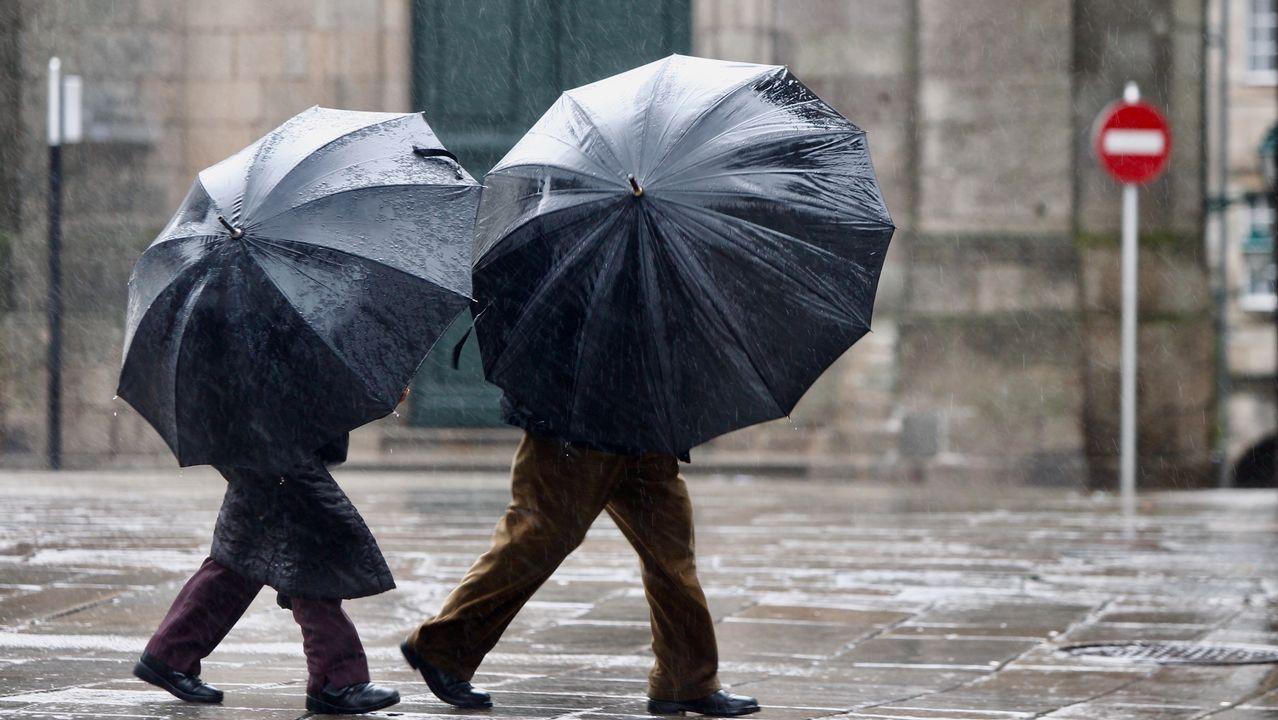 .Temporal de viento y lluvia en Santiago