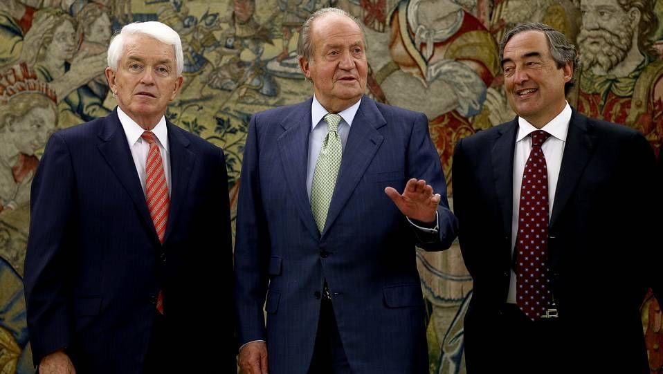 Los reyes de España reciben a Peña Nieto y a su esposa.El rey Juan Carlos en su primer acto oficial después de anunciar su decisión de abdicar en su hijo Felipe.