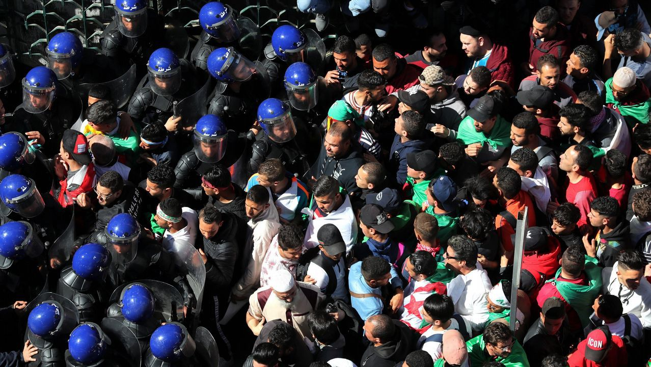 Protestas Argelia.Las protestas se han desarrollado estas cuatro semanas de forma pacífica