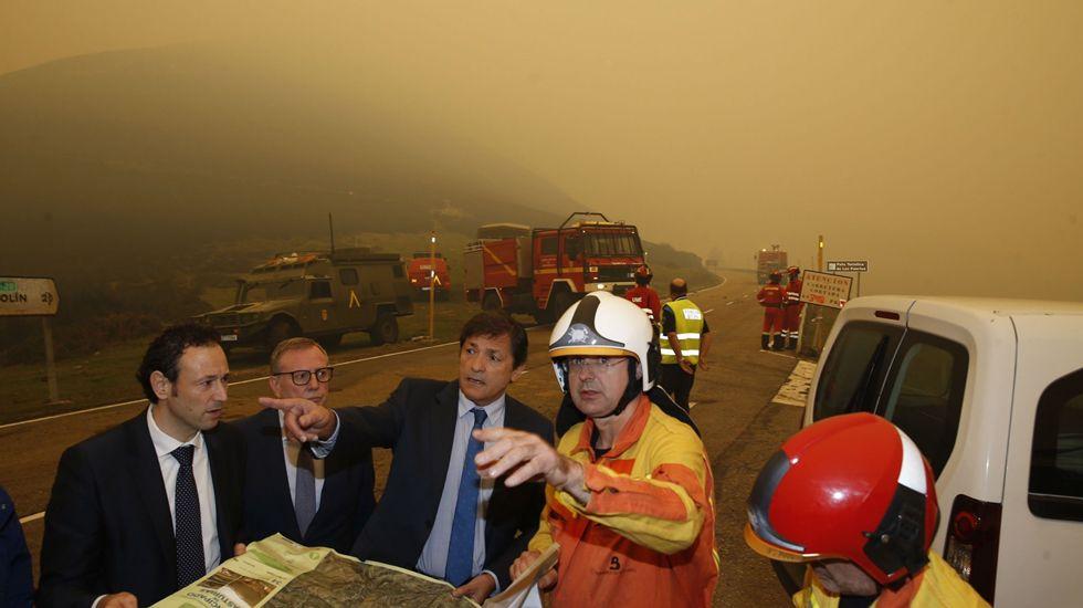 Contaminación del aire en Asturias causado por los incendios forestales.La maqueta de Playmobil de El Molinón se podrá visitar en el concesionario de Cyasa Nissan, de Gijón